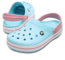 Crocs Crocband Clog Shoes Ice Blue White Pink Men's 9 Women's 11