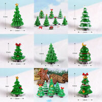 Christmas Trees gift Figurines Fairy Garden Miniatures Resin Craft Landsc_PF