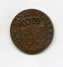 Prusia 1828D Pfennig
