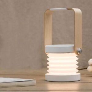 Creative Portable Lamp Wooden Telescopic Lantern Folding Led Desk Light