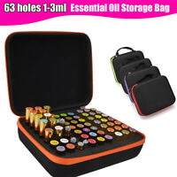 63 Slots Essential Oil Bottle Carry Case Box Holder Storage Aromatherapy Bag
