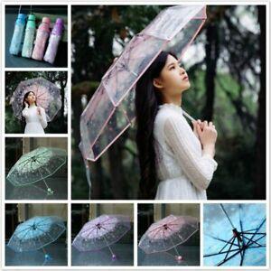 Transparent Umbrella Cherry Blossom Mushroom Umbrella Umbrella kids umbrella