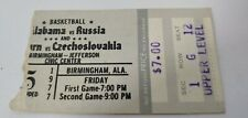 Vintage 1977 Alabama Vs Russia Auburn Vs Czechoslovakia Basketball Ticket Stub