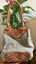 Ussaro Khaki Bucket Multi Pocket Large Handbag
