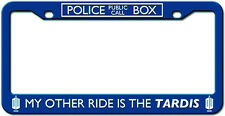 "DOCTOR WHO ""MY OTHER RIDE IS THE TARDIS"" License plate frame NEW in Package"