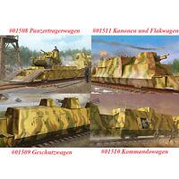 Trumpeter 01508 01509 01510 01511 1/35 Panzertrager/Geschutz/Kommando/Flakwagen