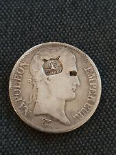 France 5 francs Napoléon 1er Argent 1810 A Contremarqué d'une Tête de tigre
