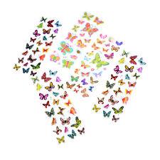 5 Sheets Colorful 3D Butterflies Scrapbooking Bubble Puffy Stickers Pop SEAU