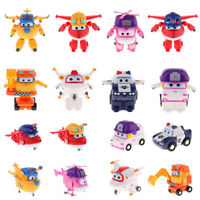 Transforming Robot to Excavator/Plane/Police Car Super Wings Kids Character Toy