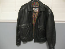 Pre Owned, Size Large, Black Leather Motorcycle Jacket