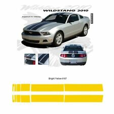 Ford Mustang 2010-2012 w/ Lip Wildstang Dual Stripe Graphic Kit - Bright Yellow