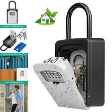 Us Padlock 4 Digit Combination Key Lock Box Safe Security Storage Case Organizer