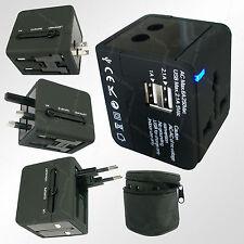 Universal World Wide Travel USB Charger Adapter wall Plug US AU EU UK Free bag