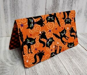 CATS Wallet Checkbook Cover Document Coupon Organizer Fabric Print USA Made