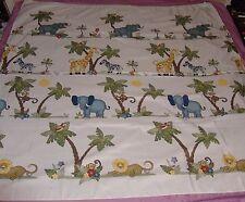 Jungle Animal Print Shower Curtain Home Trend Kids Bathroom Fabric Monkey Zebra
