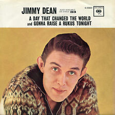 JIMMY DEAN 'A Day That Changed The World' 45 RPM PICTURE SLEEVE (COUNTRY)