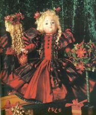 ANTIQUE FRENCH FASHION LADY DOLL DRESS+KNIT STOCKINGS/SOCK PATTERN BOOK/BRU/BEBE