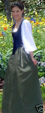 Renaissance Peasant Wench Dress Costume BLUE/GREEN Any Size avail