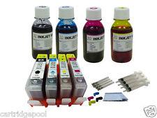 HP 564 XL 4 Refillable ink cartridge W/chip Deskjet 3521 3522 3526 3070 +4x4oz1P