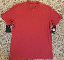 $90 Men Nike AeroReact Tiger Woods Vapor Golf Polo 2 Button Red Bv1315 687 Sz Xl