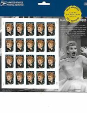 LUCILLE BALL STAMP SHEET-2001 LEGENDS OF HOLLYWOOD-34 CENT