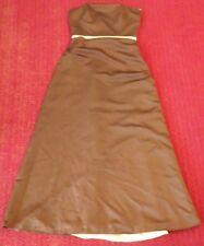 New Forever Yours Womens Sz 8 100% Polyester Full Length Strapless Wedding Dress