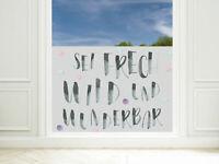 Fensterfolie Kinderzimmer Sei Frech Wild Wunderbar Sichtschutzfolie Fenster