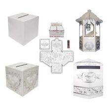 WEDDING RECEPTION CARD POSTING BOX OR WISHING WELL POST BOX WHITE /HEART/HEXAGON