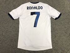 2012 2013 Real Madrid Ronaldo Jersey Shirt Kit White Home Adidas Small S 7 Blue