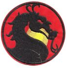 """Mortal Combat Dragon Logo 3.5"""" Wide Embroidered Patch- FREE S&H (MCPA-01)"""