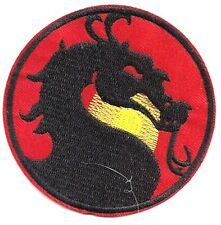"Mortal Combat Dragon Logo  3.5"" Wide Embroidered Patch- FREE S&H (MCPA-01)"