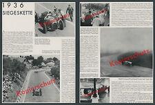 AUTO UNION Rennwagen Silberpfeile Rosemeyer Dr. Feuereißen Sieg Eifelrennen 1936