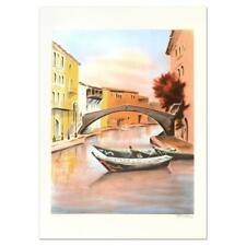 """Victor Zarou """"Camargue"""" Signed Limited Edition Lithograph on Paper"""