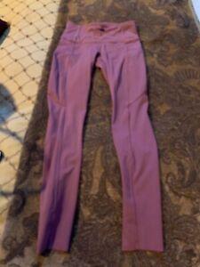 lululemon women's leggings fast free with side pockets size 4