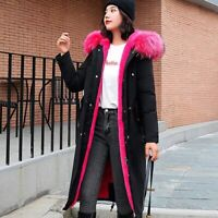 Winter Jacket Women with FauxFur Hooded Snow Coats Ladies Long Parkas Clothing