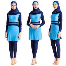 Muslim Modest Swimwear Women Full Cover Burkini Islamic Beachwear Hijab Arab 3PC