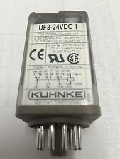 NEW!!  KUHNKE  UF3-24VDC1 (LOT of 5 Units) 24VDC RELAY   (#98 C3Q)