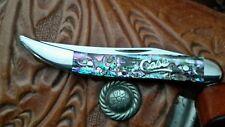 Case Silver Script Abalone Tiny Toothpick Knife