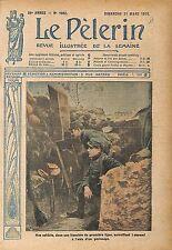 Poilus Soldats Tranchée Périscope Bataille de Verdun Militaire 1915 ILLUSTRATION