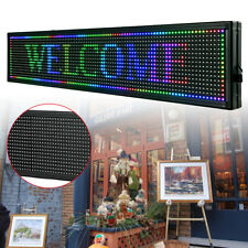 "Led Sign 40""X8"" Outdoor Scrolling Message Display Board 7Color Programmable Sale"