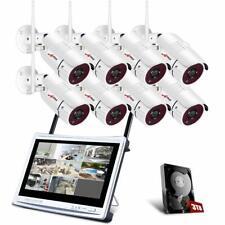 ANRAN 1080P Kit Cámaras de Vigilancia WiFi CCTV WiFi 8CH 2MP Inalambricas