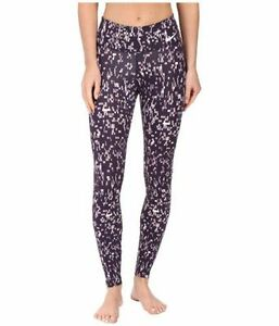 WOMEN'S NIKE POWER LEGENDARY PRINTED MID RISE TRAINING TIGHTS 803018 532 SIZE S