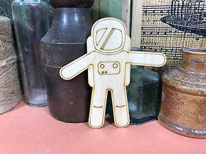 ASTRONAUT SHAPES WOODEN Multiple Sizes Wood Shape Space Man Suit 2.5cm to 25cm