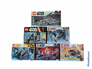 LEGO Star Wars Battle Packs Lot of 6 40407 PROMO + 75197 75132 75198 75225 75207