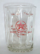 VINTAGE Singapore CALTEX Petrol Oil red star logo glass Chinese letter (#3)