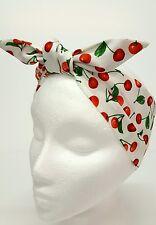 Rockabilly Headscarf Headband Bandana cherries Hair Tie Retro cherry print