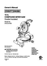 Craftsman 315.212100 Miter Saw Owners Instruction Manual