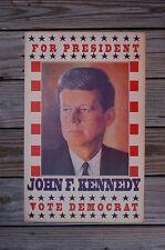 John F Kennedy campaign poster JFK