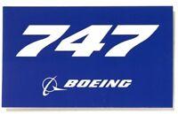 Boeing 747 Aufkleber blue Boeing Sticker