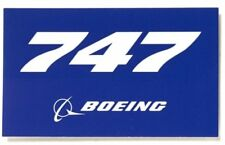 Boeing 747 Aufkleber blue Boeing Sticker original Boeing Merchandise 10 x 5cm